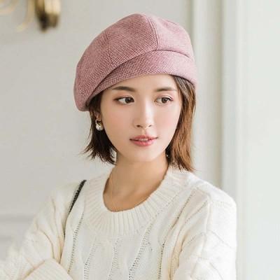 5色人気チェック柄 ベレー帽かわいい 帽子 レディース 秋 冬 カーキ   ピンク  チェック ファッション通勤小物 画家の帽子