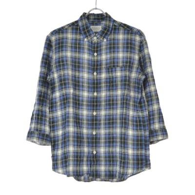 MANUAL ALPHABET / マニュアルアルファベット マドラスチェックリネン 七分袖シャツ