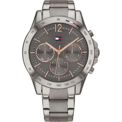 トミー ヒルフィガー レディース 腕時計 アクセサリー Women's Gunmetal-Tone Stainless Steel Bracelet Watch 38mm