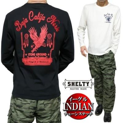Tシャツ メンズ ロンT インディアン/イーグル チェーン/刺繍 長袖 シェルティー/SHELTY メンズファッション トップス カットソー