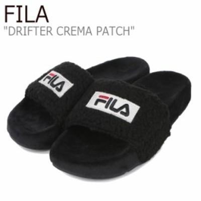 フィラ サンダル FILA レディース DRIFTER CREMA PATCH ドリフター クレマ パッチ BLACK ブラック 1SM00817-001 シューズ