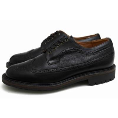 ○アローフットウェア Arrow Footwear 牛革 ビジネスシューズ AWF003 Long Wing Derby Shoes ロングウイングチップ グッドイヤーウ 中古