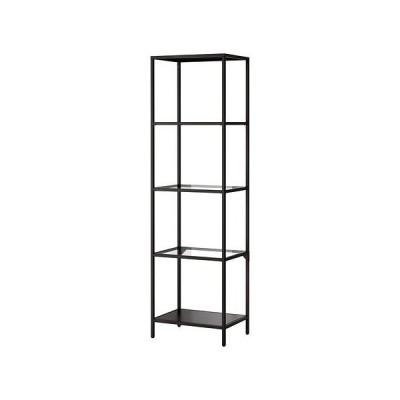 ★VITTSJO/シェルフユニット/ブラックブラウン/ガラス[イケア]IKEA(30214679)