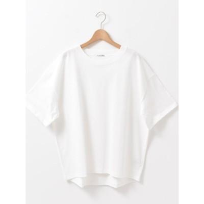 le.coeur blanc HEAVY天竺ワイドシルエットTシャツ(ホワイト)
