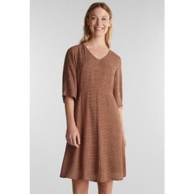 エスプリ レディース ワンピース トップス LIGHT WOVEN - Day dress - rust brown rust brown