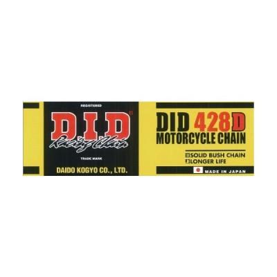 D.I.D(大同工業)バイク用チェーン クリップジョイント付属 428D-120RB STEEL(スチール) 二輪 オートバイ用