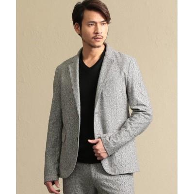 【エポカ ウォモ】 バックカットジャガードジャケット メンズ グレー1 46 EPOCA UOMO