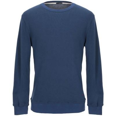 プラスピープル (+) PEOPLE スウェットシャツ ダークブルー M コットン 100% スウェットシャツ