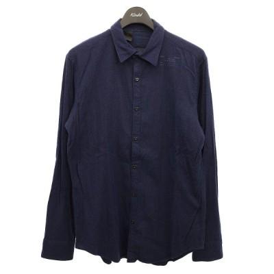 N.HOOLYWOOD コンパイルライン フランネルシャツ ネイビー サイズ:40 (明石店) 210329