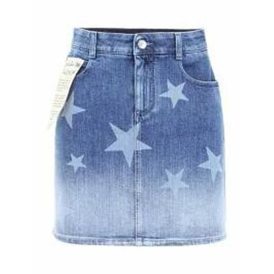 Stella McCartney レディーススカート Stella McCartney Faded Denim Mini Skirt Basic