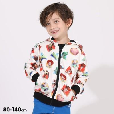 ベビードール BABYDOLL 子供服 ディズニー ジップパーカー CGアート 総柄 5585K キッズ 男の子 女の子 DISNEY