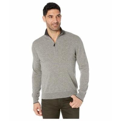 ラルフローレン ニット、セーター アウター メンズ Washable Cashmere 1/4 Zip Pullover Fawn Grey Heather