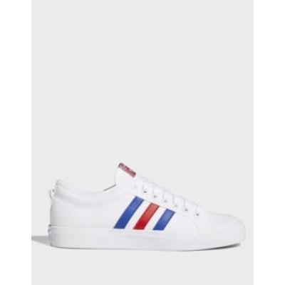 アディダス メンズ スニーカー シューズ adidas Originals nizza sneakers white red White