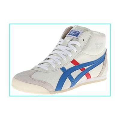 【新品】Onitsuka Tiger Mexico Mid Runner Fashion Sneaker,White/Blue,10.5 US/12 Women's M US(並行輸入品)