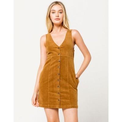 オニール O'NEILL レディース ワンピース ワンピース・ドレス Ridgemont Corduroy Dress TOBACCO