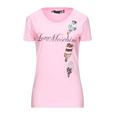 ラブ モスキーノ LOVE MOSCHINO T シャツ ピンク 44 コットン 93% / ポリウレタン 7% T シャツ