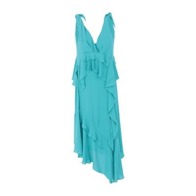HANITA 7分丈ワンピース・ドレス エメラルドグリーン XXS ポリエステル 100% 7分丈ワンピース・ドレス