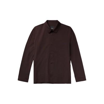 セオリー THEORY シャツ ダークブラウン M ナイロン 66% / コットン 19% / ポリウレタン 15% シャツ