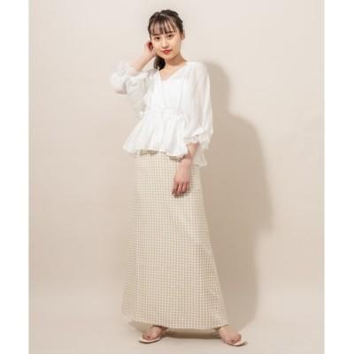 【ミスティック/mystic】 [mline] WEB限定 ギンガムチェックマーメイドスカート