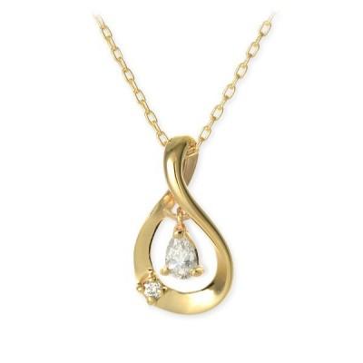 ゴールド ネックレス ダイヤモンド 誕生石 彼女 誕生日プレゼント 記念日 ギフトラッピング ウィスプ 送料無料 レディース