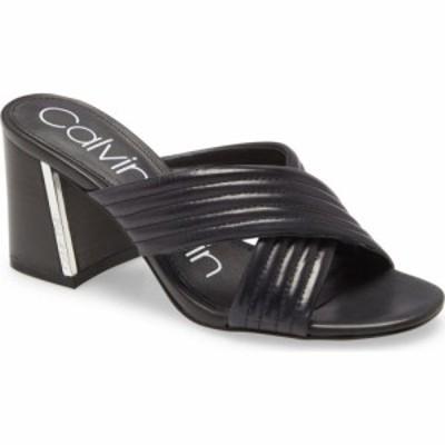 カルバンクライン CALVIN KLEIN レディース サンダル・ミュール シューズ・靴 Roena Sandal Black Leather