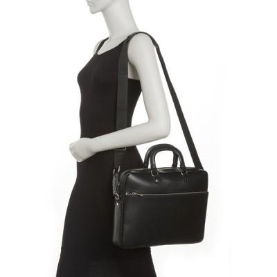 メゾンヘリテージ メンズ バックパック・リュックサック バッグ Briefcase Leather Shoulder Bag BLACK