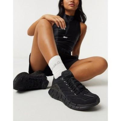 リーボック レディース スニーカー シューズ Reebok Zig Kinetica sneakers in black Black