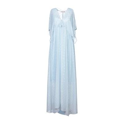 TRAFFIC PEOPLE ロングワンピース&ドレス スカイブルー M ポリエステル 95% / 金属繊維 5% ロングワンピース&ドレス