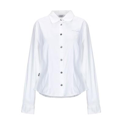 モスキーノ MOSCHINO シャツ ホワイト 48 コットン 63% / ポリエステル 37% シャツ