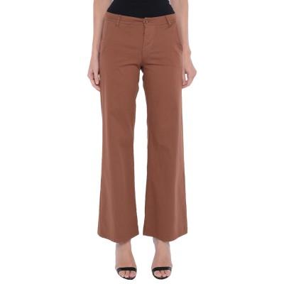 OUVERT DIMANCHE パンツ ブラウン S コットン 95% / ポリウレタン 5% パンツ