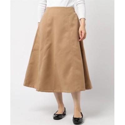 スカート フェイクウール フレアスカート