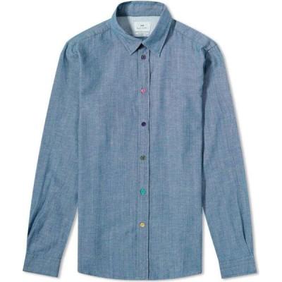 ポールスミス Paul Smith メンズ シャツ シャンブレーシャツ トップス chambray coloured button shirt Blue