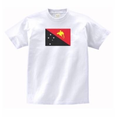 国 国旗 Tシャツ パプアニューギニア 白