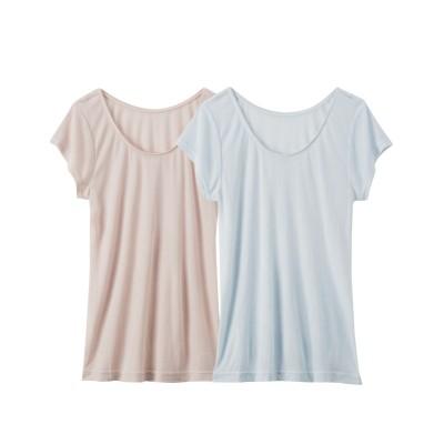 【WEB限定】接触冷感フレンチ袖インナー2枚組 (フレンチ袖・半袖・五分袖インナー)Underwear