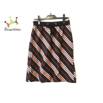 バーバリーブルーレーベル スカート サイズ38 M レディース - 黒×ベージュ×マルチ 新着 20200815