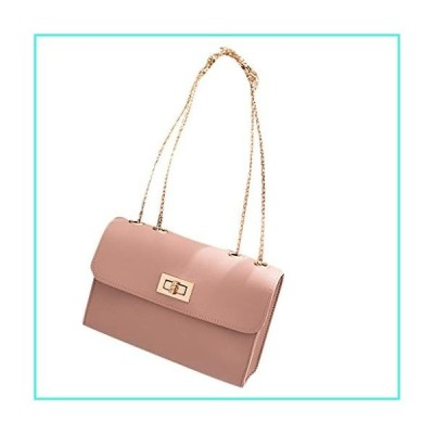 【新品】Goddessvan Fashion Lady Shoulders Small Backpack Letter Purse Mobile Phone Messenger Bag Oil Skin Packet Pink(並行輸入品)
