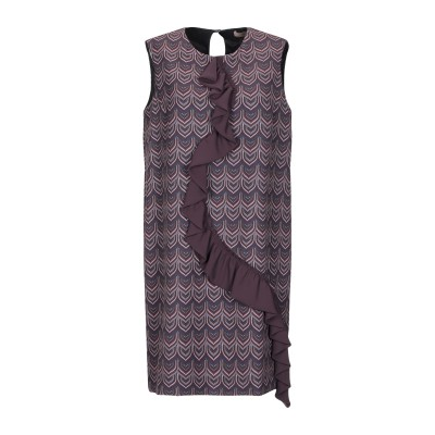 MAESTA ミニワンピース&ドレス ディープパープル 42 ポリエステル 88% / ポリウレタン 12% ミニワンピース&ドレス