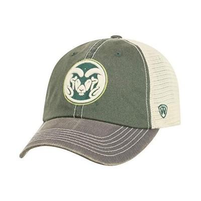 Top of the WorldメンズColorado State Ramsグリーン/ゴールド/ホワイトOff Road調節可能な帽子 Onesize