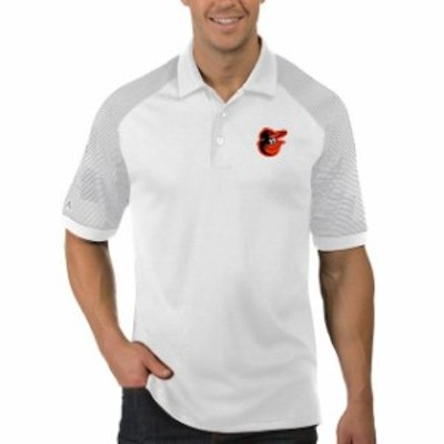 Antigua アンティグア スポーツ用品  Antigua Baltimore Orioles White/Gray Engage Polo