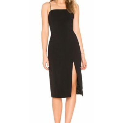 Jay Godfrey ジェイゴッドフリー ファッション ドレス Jay Godfrey Womens Slit Crepe Black Size 6 Square Neck Sheath Dress