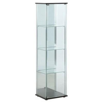不二貿易 ガラスコレクションケース 4段(背面ミラー付き) TMG-G21 96046 【返品種別A】