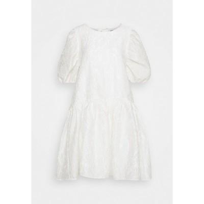 セレクテッドフェム ワンピース レディース トップス SLFWINA SLEEEVE SHORT DRESS  - Day dress - white