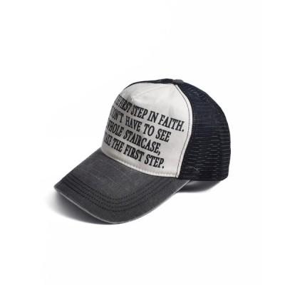 帽子 キャップ CA MESSAGE MESH CAP