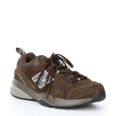 ニューバランス メンズ スニーカー シューズ Men's 608 V5 Training Shoe Chocolate Brown/White
