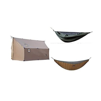 OneTigris TEGIMEN Hammock Hot Tent + KOMPOUND Camping Hammock + Hideout Hammock Underquilt