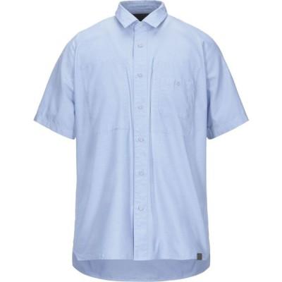 ホワイトマウンテニアリング WHITE MOUNTAINEERING メンズ シャツ トップス solid color shirt Blue