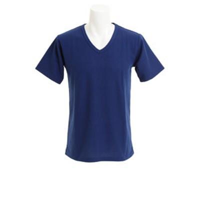 CHRISTIAN 24(CHRISTIAN 24)Tシャツ メンズ ワッフルVネック 半袖 CH24M027 NVY オンライン価格