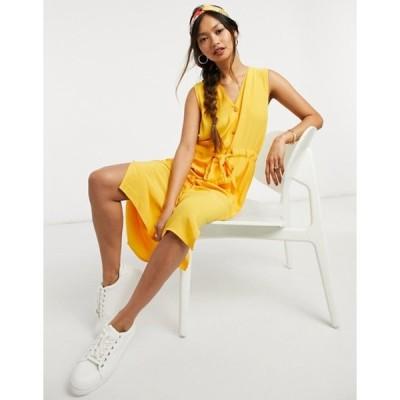 ワイエーエス レディース ワンピース トップス Y.A.S. Melia sleeveless tie waist midi dress in citrus