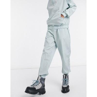 エイソス ASOS DESIGN メンズ ジョガーパンツ ボトムス・パンツ Co-Ord Oversized Joggers In Dusty Blue Nylon ダスティブルー