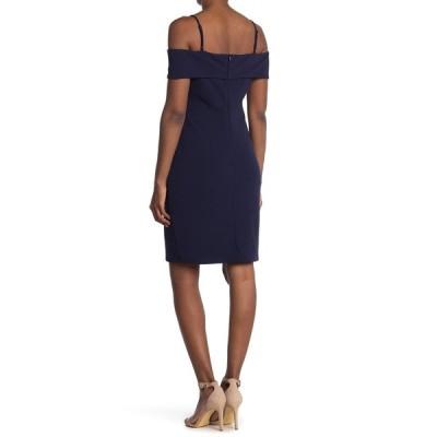 ベベ レディース ワンピース トップス Cold Shoulder Mini Dress NAVY